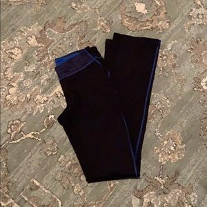 Lucy Straight Leggings Blue And Black XS